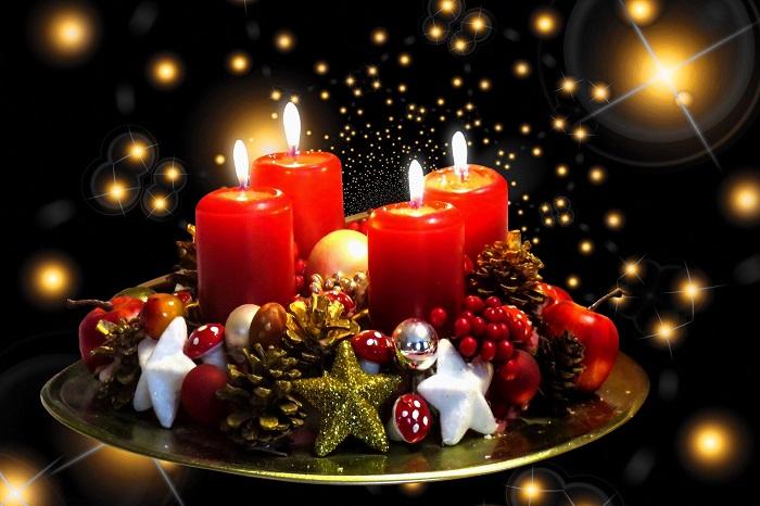 Vianočné sviečky na pekné chvíle